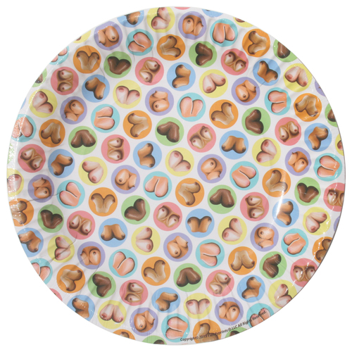 Dirty Dishes: Mini-Boob Style Plates (8 X Pack)