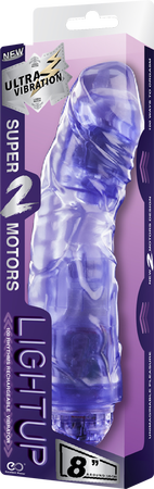 "Rechargeable Vibrator 8"" (Purple)"